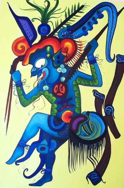 Na slici iznad: Majanski bog kiše i svjetlosti