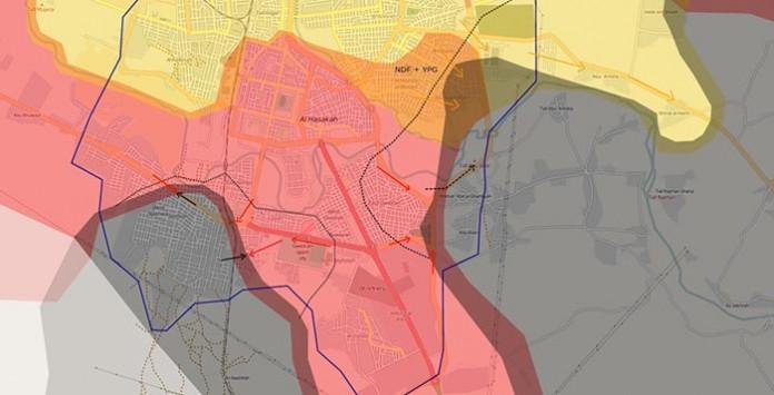 Mapa kontrole Hasake za 1. juli 2015
