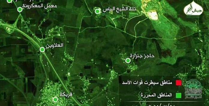 Mapa oslobodjene teritorije