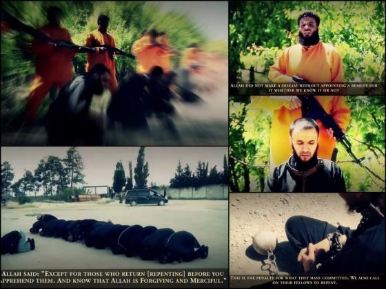 Scene pogubljenja IDIŠ-ovih boraca od strane Vojske islama
