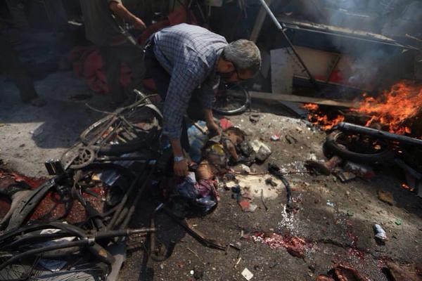 Scene masakra u Dumi, august 16, 2015.
