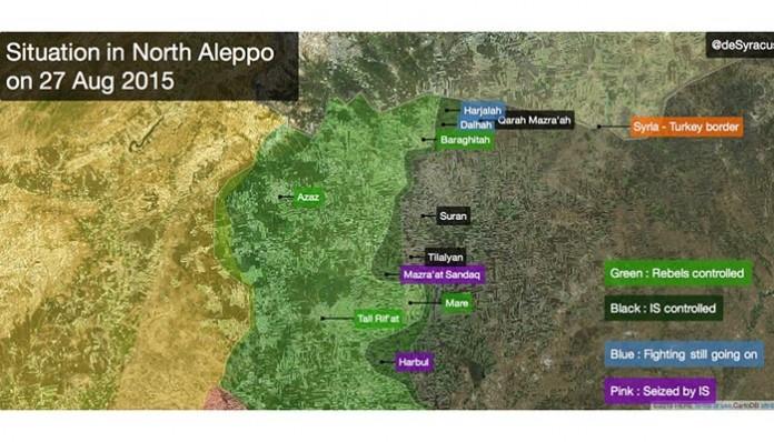 Situacija na sjeveru provincije Halep, 27. august 2015