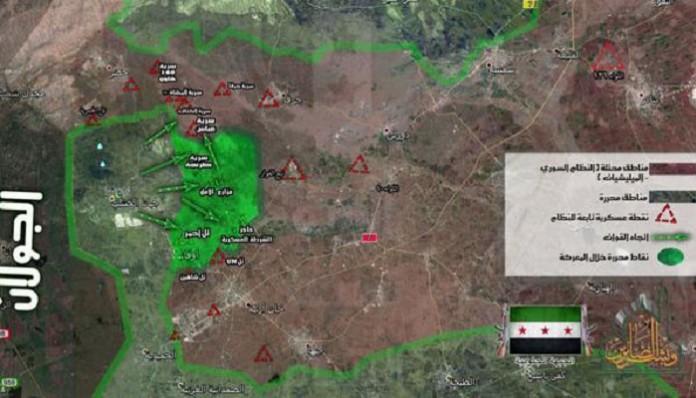 Napredovanje opozicijskih snaga u Kunejtiri