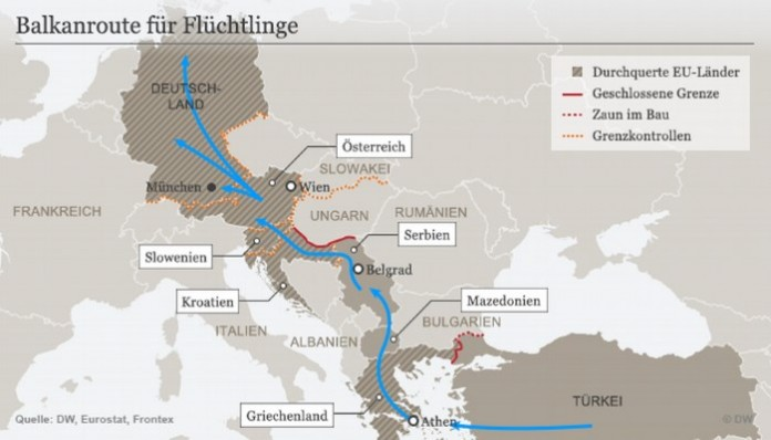 Izbjeglička ruta prema Evropi