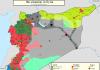Mapa kontrole teritorija u Siriji 3 april 2016