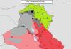 IRAK: Mapa kontrole 3. juli 2016. godine