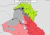 Irak mapa kontrole 1 septembar 2016 godine