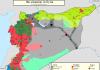 Mapa kontrole teritorija u Siriji 1 septembar 2016
