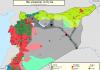 Mapa kontrole teritorija u Siriji za 3. oktobar 2016. godine