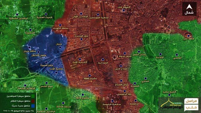 Dvodnevna postignuća ofanzive za deblokadu Halepa