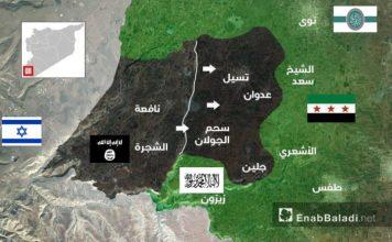 Mapa kontrola istoka provincije Dera 20 februar 2017