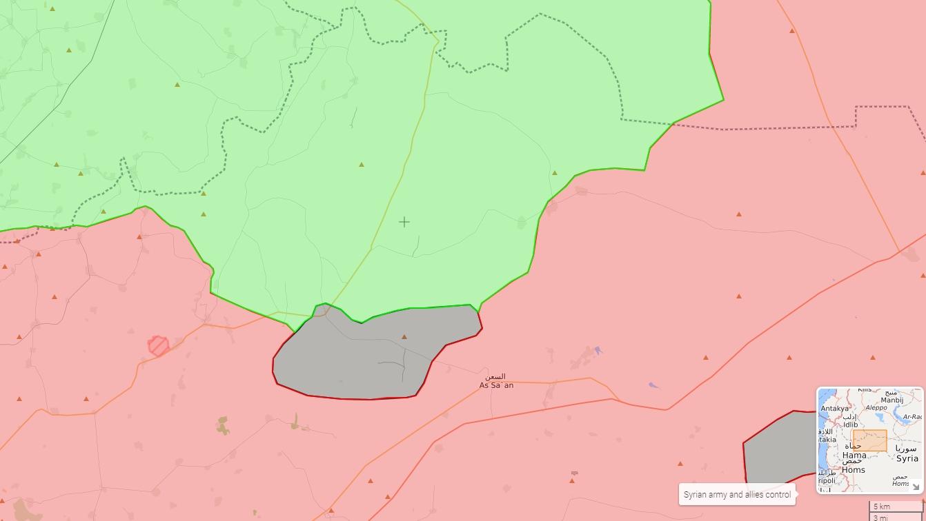 Gotovo cijela teritorija koju je IDIŠ zauzeo od Tahriruš-Šama je potpala pod kontrolu režima (mapa kontrole za 22.11.2017)