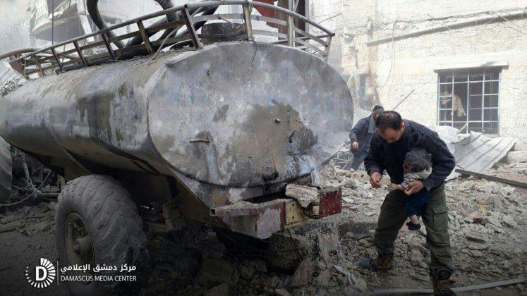 Ruski i šijitski teroristički napadi na Istočnu Gutu