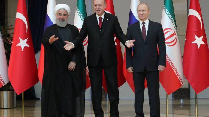 Erdogan, Ruhani i Putin